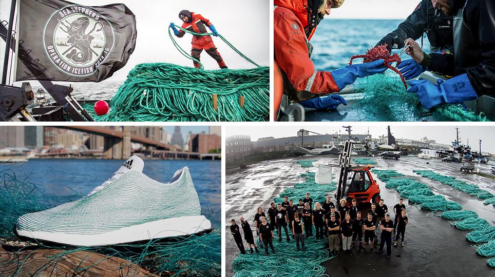 Adidas sử dụng rác thải nhựa để sản xuất giày thể thao và quần áo