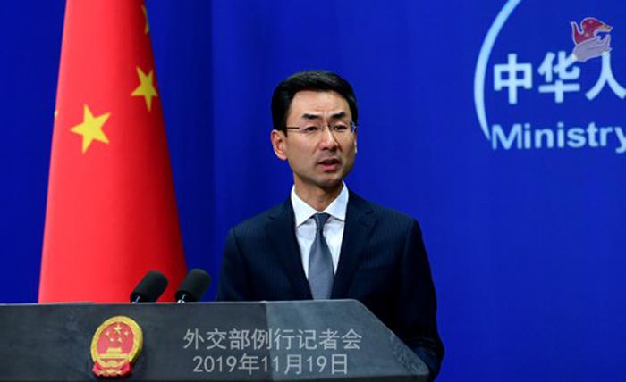 Người phát ngôn Bộ Ngoại giao Trung Quốc Cảnh Sảng chỉ trích bất kì nỗ lực nào của Mỹ can thiệp vào các vấn đề nội bộ của Trung Quốc là vô ích.