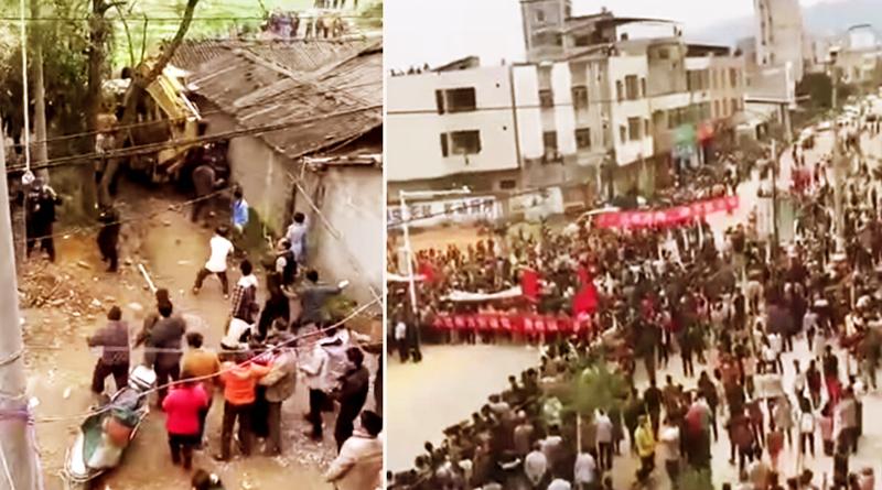 nhiều người dân trấn Văn Lâu thuộc đô thị Hóa Châu (thuộc Mậu Danh – Quảng Đông) đã tham gia biểu tình bày tỏ sự bất bình trước việc chính quyền địa phương vi phạm cam kết