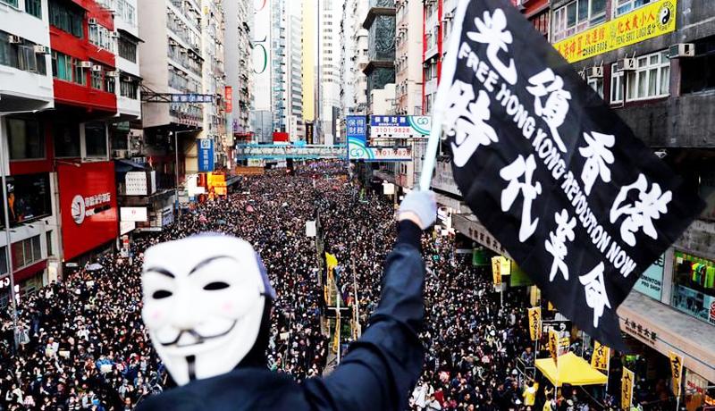 Người biểu tình Hồng Kông xuống đường phản đối dự luật dẫn độ và Luật cấm che mặt.