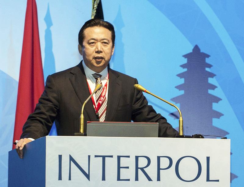 Mạnh Hồng Vĩ, Thứ trưởng Bộ Công an của ĐCSTQ, đã được bầu làm chủ tịch của Interpol, gây chấn động thế giới bên ngoài.