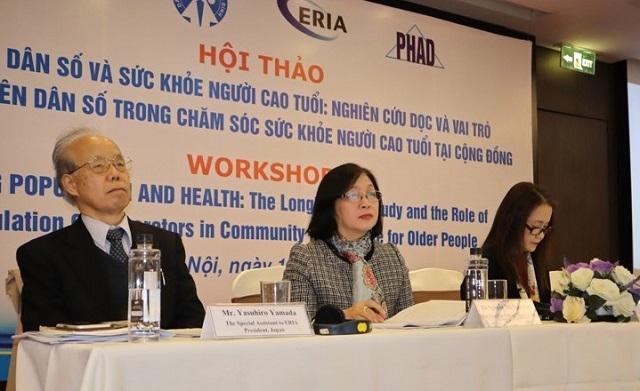 Nguyễn Thị Ngọc Lan, Phó Tổng cục trưởng Tổng cục Dân số, Bộ Y tế, Việt Nam tại Hội thảo 'Già hóa dân số và sức khỏe người cao tuổi'. (Ảnh qua ĐKN)