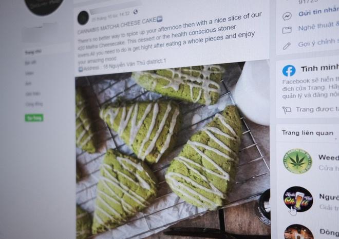 Bánh cần sa được rao bán công khai trên Facebook.