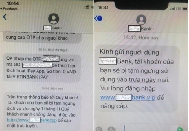 Cảnh giác thủ đoạn mạo danh ngân hàng lừa đảo người dùng qua trang web giả mạo