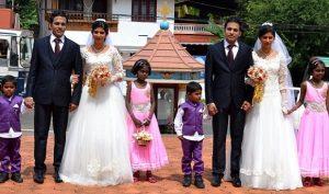 """Đám cưới có """"1-0-2"""" trên thế giới: Chỉ toàn những cặp song sinh"""
