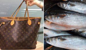 Cháu trai tặng túi xách hiệu Louis Vuitton, người bà hồn nhiên đem đựng… cá