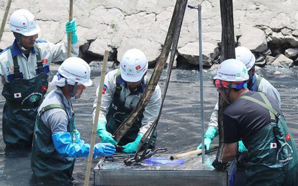Tổ chức xúc tiến thương mại - môi trường Nhật Bản thí điểm làm sạch sông Tô Lịch.