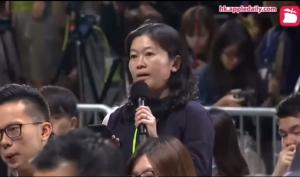 Nữ công dân Hồng Kông chỉ trích trưởng đặc  khu Carrie Lam là 'đạo đức giả'