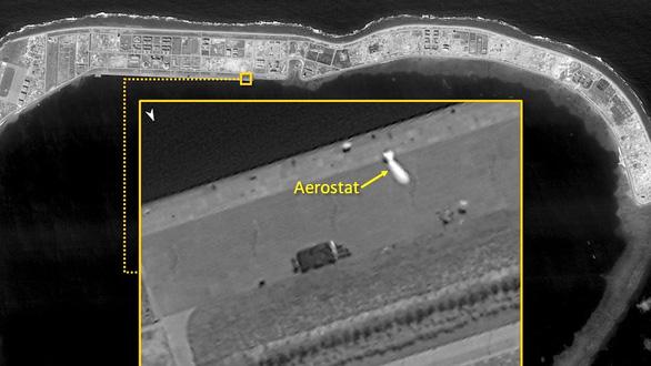Hình ảnh được cho là khinh khí cầu do thám của Trung Quốc ở Vành Khăn.