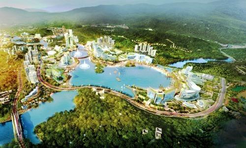 Phối cảnh Khu phức hợp Hòn Ngọc có casino tại Vân Đồn, Quảng Ninh.