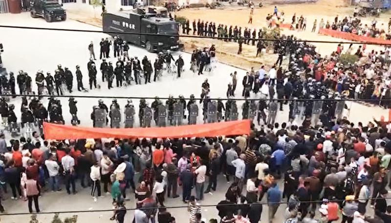 Người biểu tình Quảng Đông bị chặn không cho tiếp cận với chính quyền địa phương
