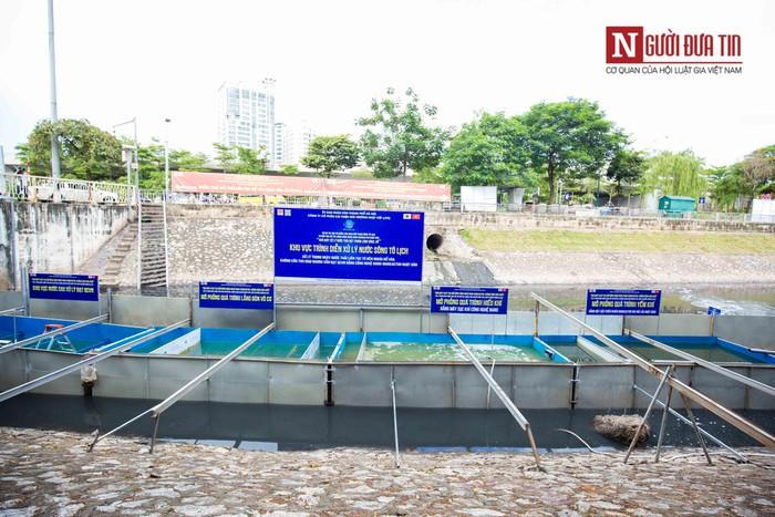 Khu thí nghiệm công nghệ Nano tại một đoạn sông Tô Lịch.