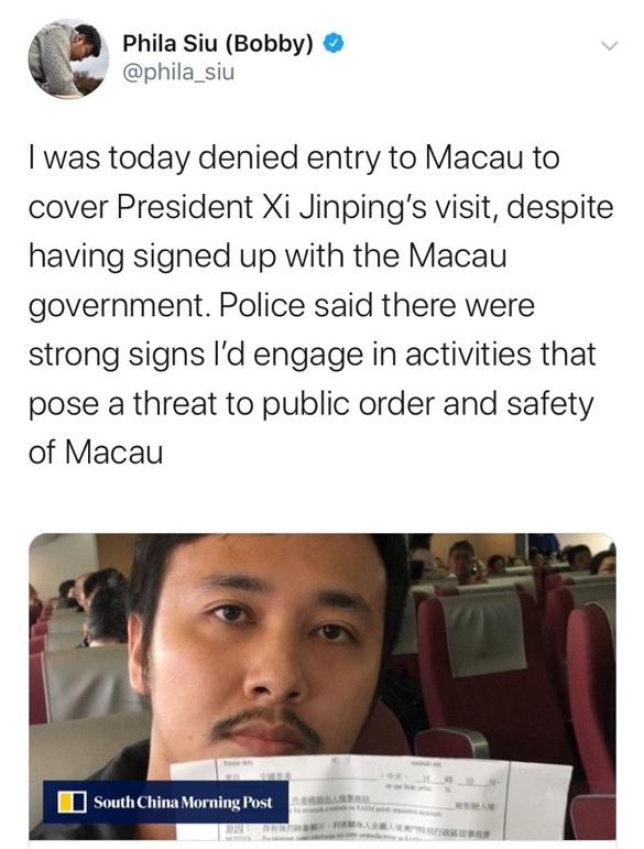 Phóng viên Ma Cao bị đe dọa, phóng viên Hồng Kông bị từ chối nhập cảnh vào Ma Cao (ảnh 3)