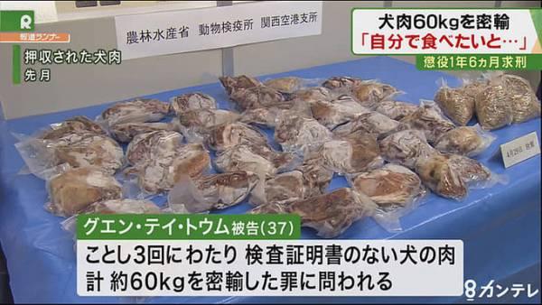 Mang 60 kg thịt chó vào Nhật, người phụ nữ Việt bị phạt tù-ảnh 2