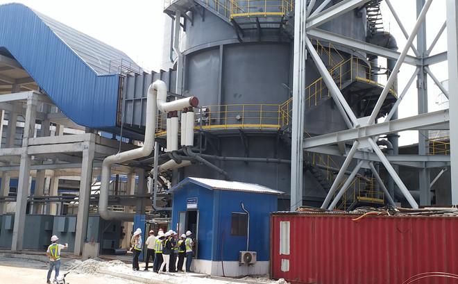 Một trong các trạm quan trắc môi trường ở Nhà máy thép Hòa Phát - Dung Quất.