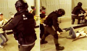 Biểu tình Hồng Kông ngày 1/12: Bà lão quỳ xuống đất bị cảnh sát đẩy ngã thô bạo