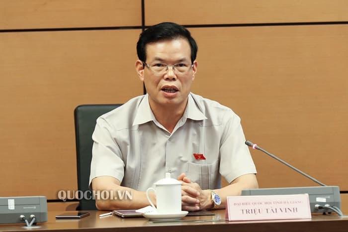 Nguyên Bí thư Hà Giang Triệu Tài Vinh, hiện là Phó Trưởng ban Kinh tế Trung ương, có con gái nằm trong danh sách thí sinh được nâng điểm trong kỳ thi năm 2018. (Ảnh qua quochoi)