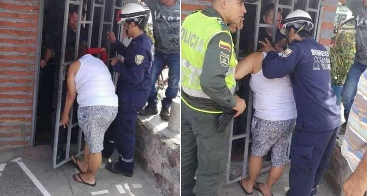 Hóng chuyện nhà hàng xóm, người phụ nữ bị kẹt đầu vào cửa sắt suốt 5 tiếng đồng hồ