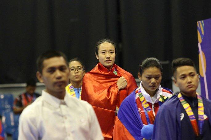 Nữ VĐV võ gậy Việt Nam bị bỏ đói vẫn giành 3 HCV SEA Games 30- ảnh 3