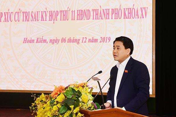 Chủ tịch Hà Nội Nguyễn Đức Chung trong buổi tiếp xúc cử tri cho rẳng JEBO chưa xin phép khi làm sạch sông Tô Lịch.