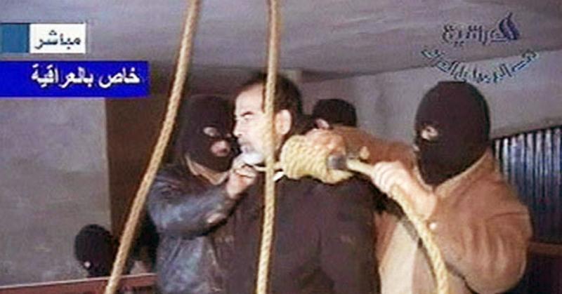 Cựu Tổng thống Iraq Saddam Hussein bị xử tử hình vào năm 2006.