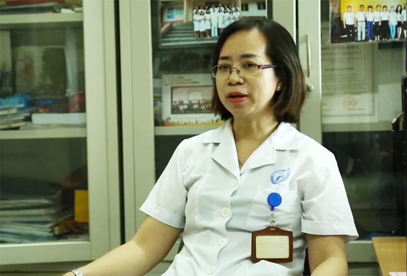 Ths Chu Thị Cúc Hương - Phó Trưởng Khoa Khám bệnh, Bệnh viện Phổi Hà Nội.