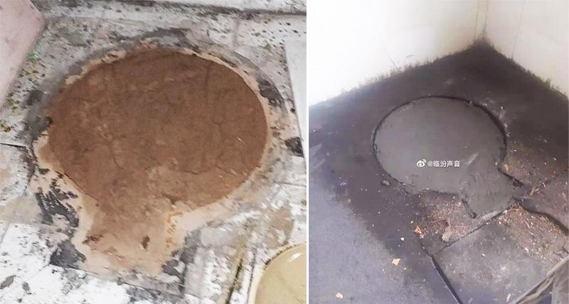 Dân làng còn tiết lộ, khi ủy ban thôn nhìn thấy bếp lò liền dùng xi măng đổ đầy khoang lò, thậm chí còn có người vượt rào vào nhà dân để cưỡng ép lấp kín.