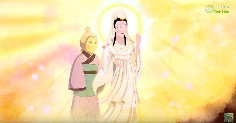 Trịnh Quân mơ thấy mẹ dẫn Bồ Tát đến, nói rằng chỉ cần không ngừng thờ cúng, Bồ Tát sẽ phù hộ cho vĩnh viễn không lụn bại.