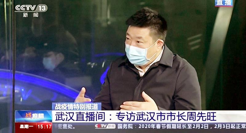 """Thị trưởng thành phố Vũ Hán đã 'công khai' chống lệnh Tập Cận Bình khi tiết lộ, việc che giấu tình hình dịch bệnh là do """"Chính quyền trung ương không cho phép""""."""