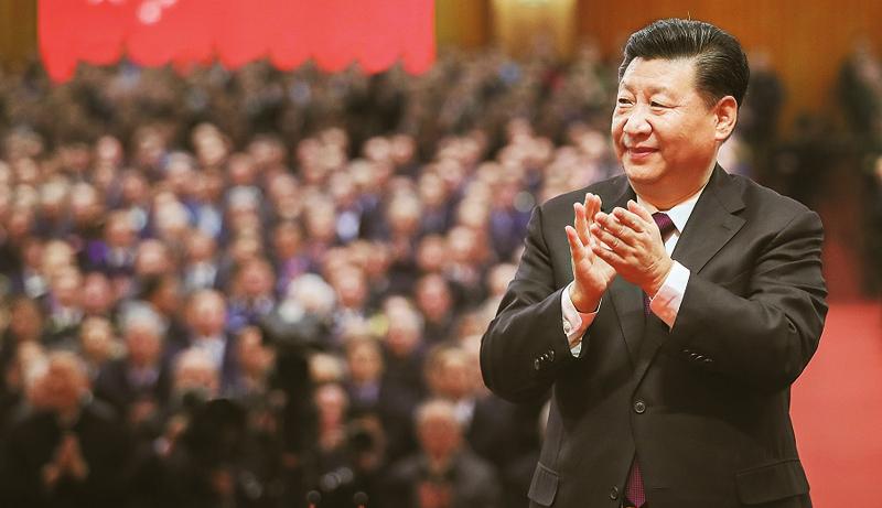 """Lần đầu tiên ông Tập Cận Bình được Bộ Chính trị trao tặng danh hiệu """"Lãnh tụ nhân dân"""", thu hút sự chú ý của giới quan sát."""