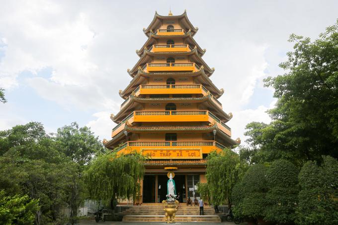 Phần đất xây dựng bảo tháp thờ Xá lợi Phật bị rao bán. (Ảnh qua tienphong)
