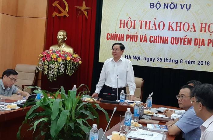 Bộ nội vụ 9 người dân Việt Nam đang phải nuôi 1 cán bộ nhà nước -ảnh 1