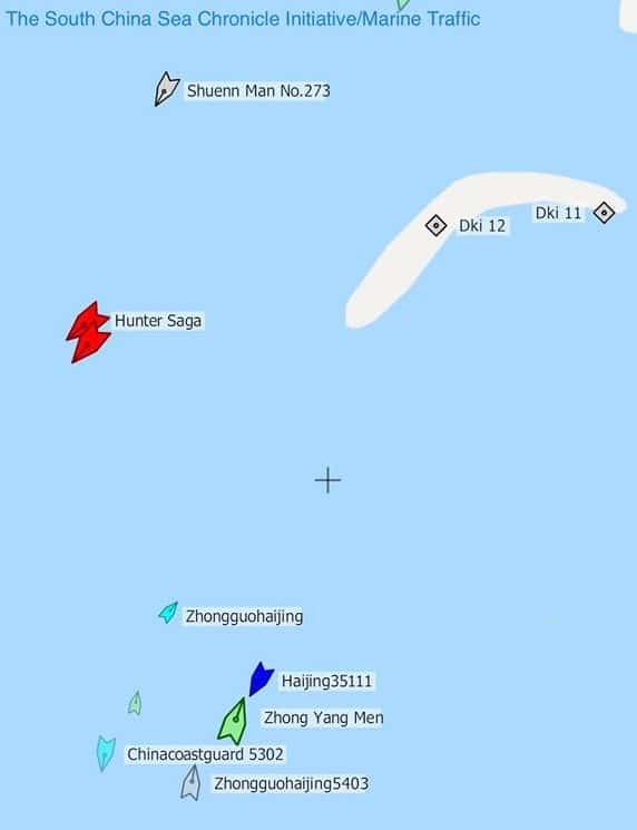 Các tàu hải cảnh Trung Quốc hiện diện gần bãi Tư Chính.