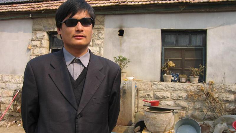 Ông Trần Quang Thành (Chen Guangcheng), luật sư nhân quyền với đôi mắt bị mù.