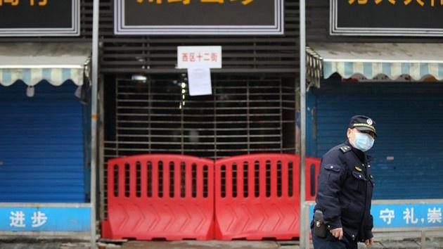 Chợ hải sản ở Vũ Hán, nơi có nhiều người mắc bệnh, đã đóng cửa. (Ảnh qua Zing)
