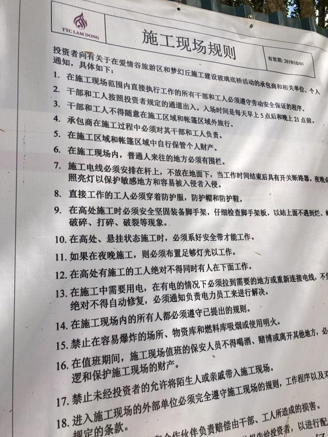 Đà Lạt Sử dụng 27 lao động Trung Quốc để xây dựng cầu kính trái phép-ảnh 5