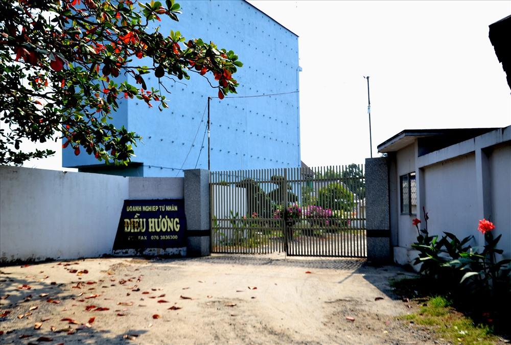 Trụ sở doanh nghiệp Điều Hương - nơi bị thanh tra Bộ Nông nghiệp và Phát triển Nông thôn xử phạt hành chính.