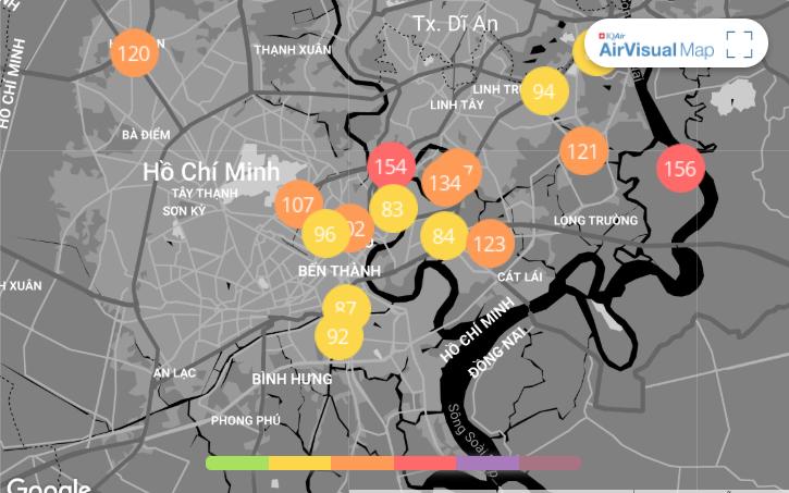 Chất lượng không khí ở TP.HCM cải thiện vao ngày 10/1.
