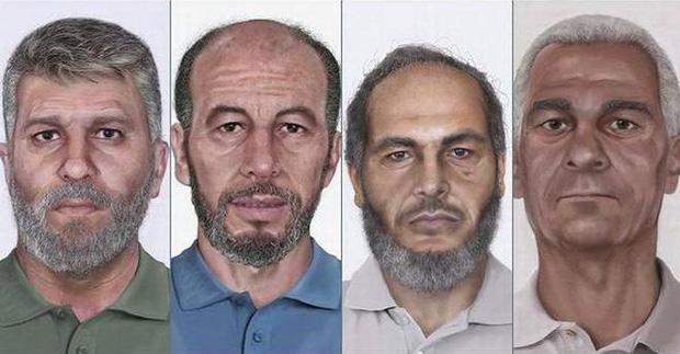 Chân dung 4 tên khủng bố.