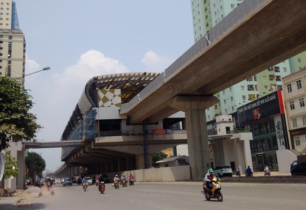 Một nhà ga của hệ thống đường sắt đô thị Cát Linh-Hà Đông. (Ảnh qua trithuc)