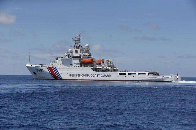 Một tàu hải cảnh của Trung Quốc ở Biển Đông. (Ảnh qua thanhnien)