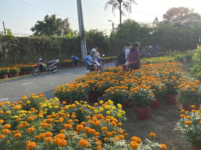 Dù mới ngày 20 tháng Chạp, tuy nhiên đã có hàng trăm người đến mua hoa giúp đỡ anh Phương. (Ảnh qua dantri)