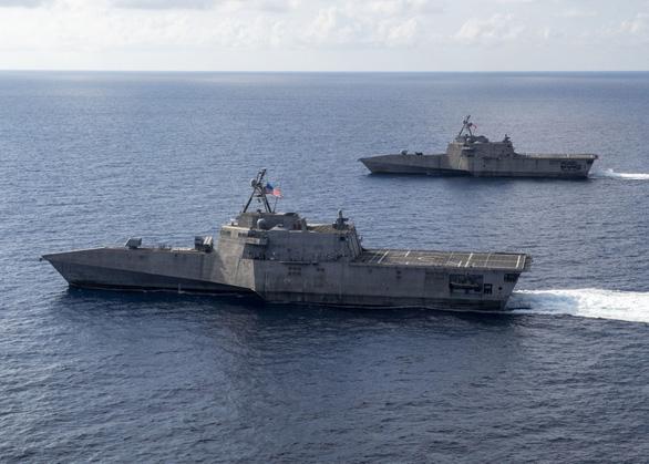 Mỹ điều tàu chiến tuần tra tự do hàng hải gần Đá Gạc Ma và Đá Chữ Thập