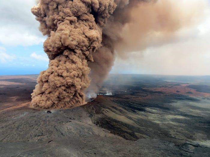 Núi lửa này phát triển từ dưới đáy đại dương khoảng 1-2 triệu năm trước. (Ảnh:)