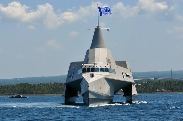 Một tàu chiến của Hải quân Indonesia.