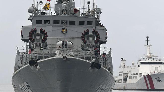 Tàu chiến Indonesia được điều động tới vùng biển quần đảo Natuna. (Ảnh qua Zing)