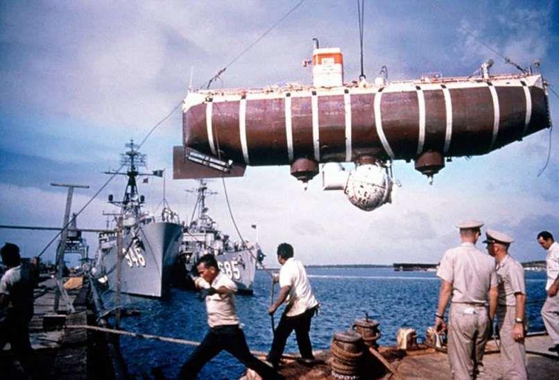 Tàu Trieste - tàu ngầm lặn sâu nhất thế giới.
