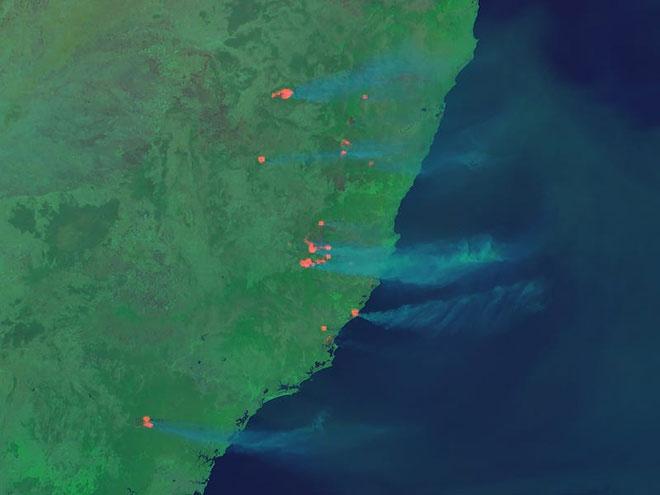Thảm họa cháy rừng tại Úc nhìn từ không gian ngoài Trái Đất - ảnh 4