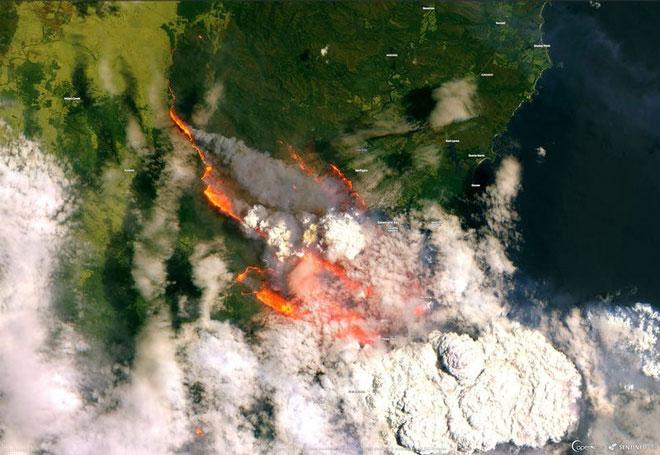 Thảm họa cháy rừng tại Úc nhìn từ không gian ngoài Trái Đất - ảnh 6