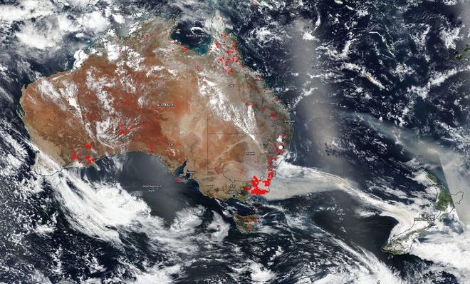 Thảm họa cháy rừng tại Úc nhìn từ không gian ngoài Trái Đất - ảnh 7